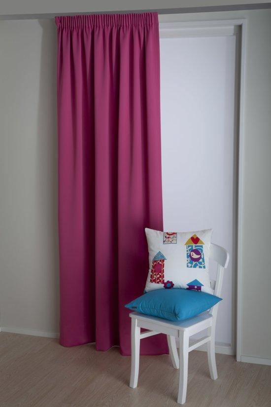 bol.com | Okee! Soleo - Kant en klaar gordijn - Roze - 140x270 cm ...