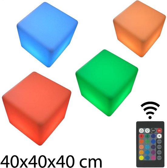 Verrassend bol.com   Multicolor LED Kubus 40 x 40 cm Oplaadbaar met DW-43