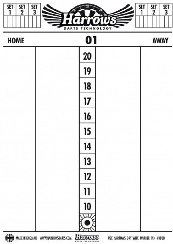 Harrows Dry wipe scoreboard