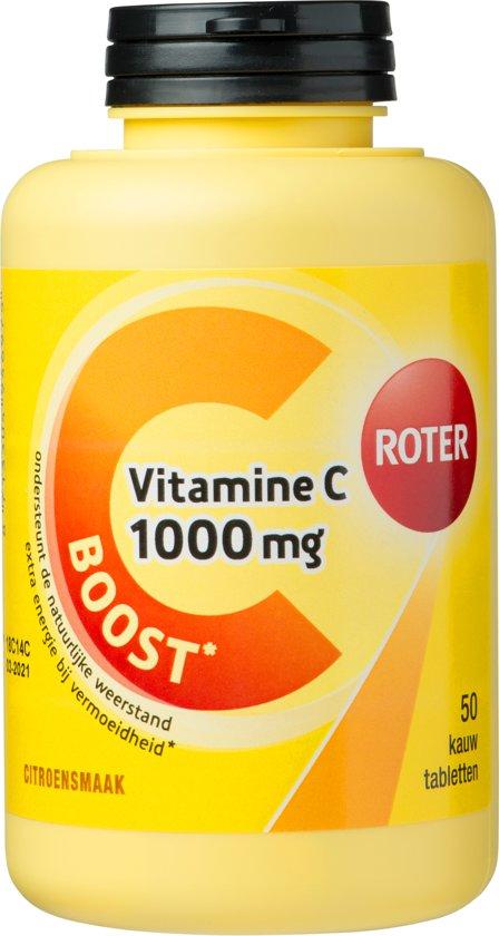 Roter Vitamine C 1000 mg - 50 Kauwtabletten - Vitaminen