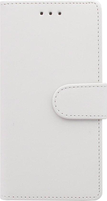 Huawei P10 Telefoonhoesje Wit met Opbergvakjes in Biervliet