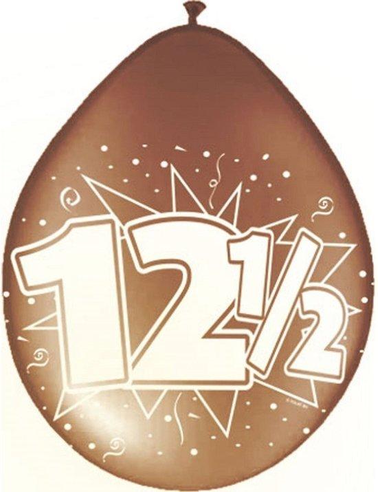 40x stuks Jubileum ballonnen 12,5 jaar - 12,5 jaar getrouwd versiering feestartikelen