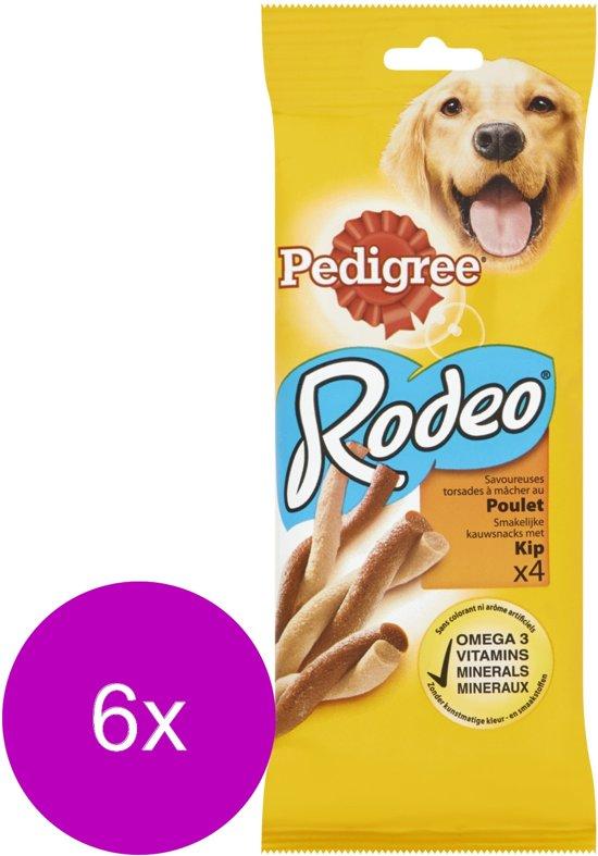 Pedigree Rodeo Kauwsticks - Kip - Hondensnacks - 6 x 4 stuks