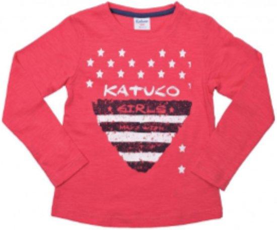 katuco shirt met sterretjes en groot hart print