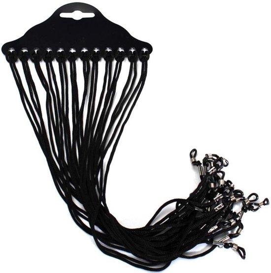 Brillenkoord / Brilclip Multipack, 12 handige Brillenkoordjes - zwart