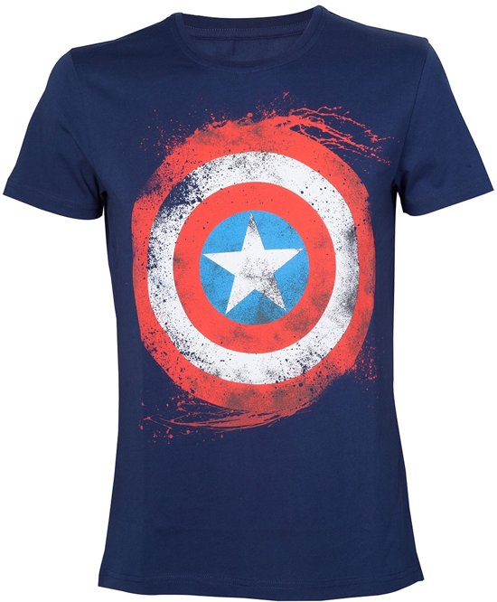 Marvel Captain America Shield Blue TShirt M