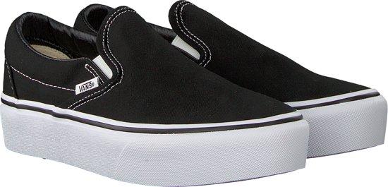 Dames Maat On Sneakers Zwart Platform Vans 36 Slip Classic 6fpq6gd