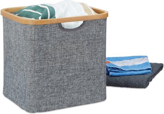 bol.com | relaxdays opbergmand stof - mand grijs - voor in de kast ...