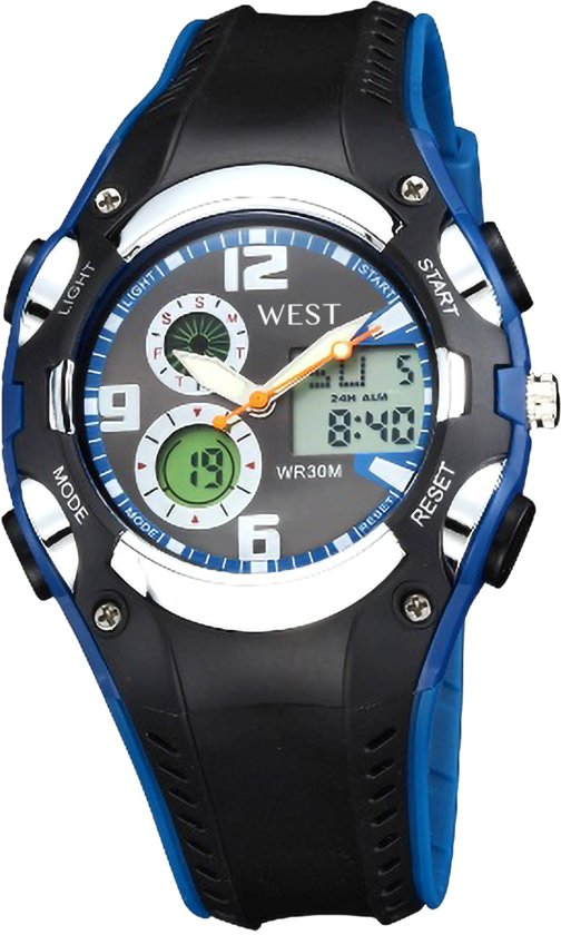 Ohsen - multifunctioneel tiener horloge - 38 mm - blauw/zwart