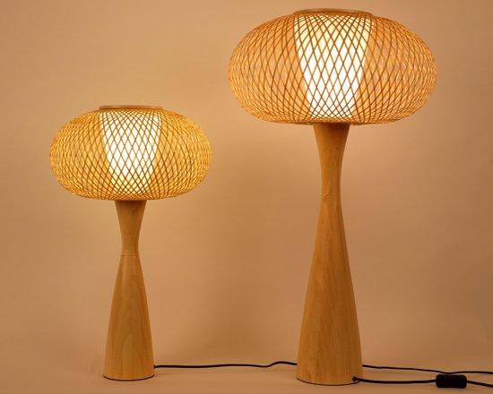 Lampen Oosterse Stijl : Bol tafellamp bamboe oosters japanse stijl cm