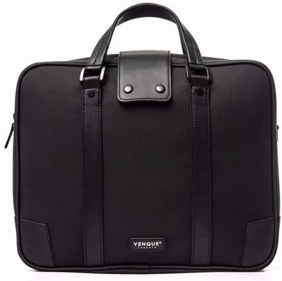 83666d9d3f9 Venque 'Hamptons' Laptop Aktetas - Quanta Fabric - Carbon Black Edition