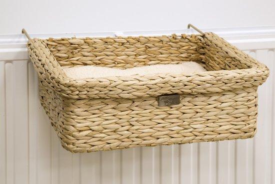 Designed by Lotte waterhyacint radiatorhanger Banda. Verstelbaar. 45 x 30 x 15 cm.