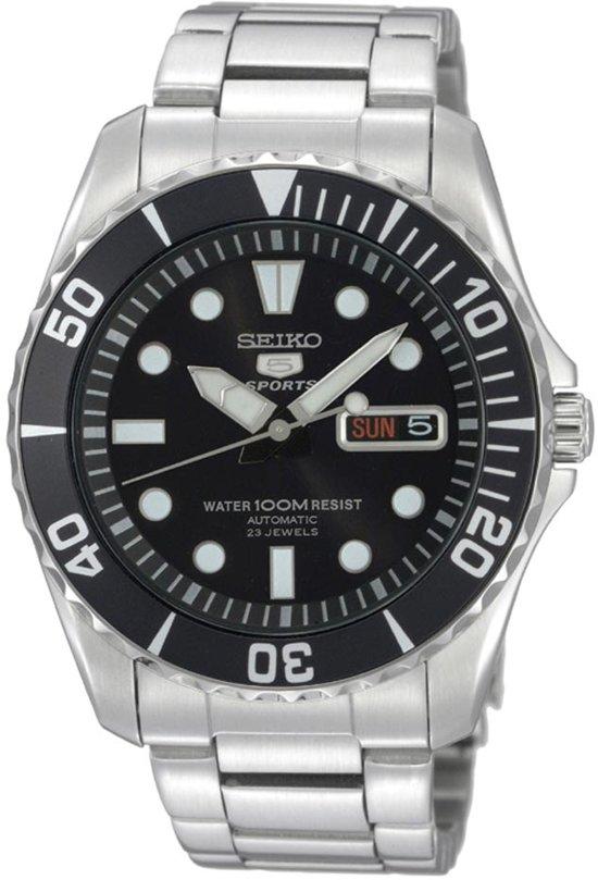 Seiko SNZF17K1 horloge heren - zilver - edelstaal