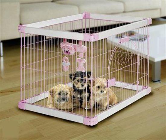 Karlie Benche Pup Box Nanny - Roze - 90 x 71 x 68 cm