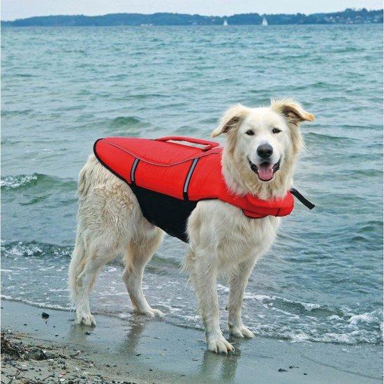Trixie Honden Zwemvest Rood/Zwart - Maat: XS