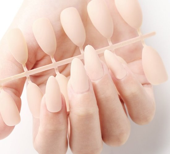 24 Stuks Matte Nepnagels Lang | Beige | Nagels | Cosmetica Accessoires