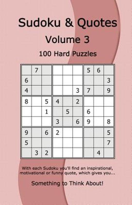 Bolcom Sudoku Quotes Volume 3 9781541035720 Rudy Dentu Boeken