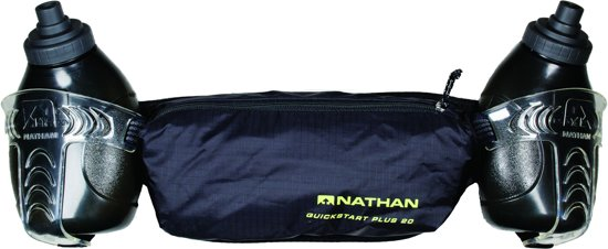 Nathan QuickStart Plus 20 2x300ml Black - Drinkgordel