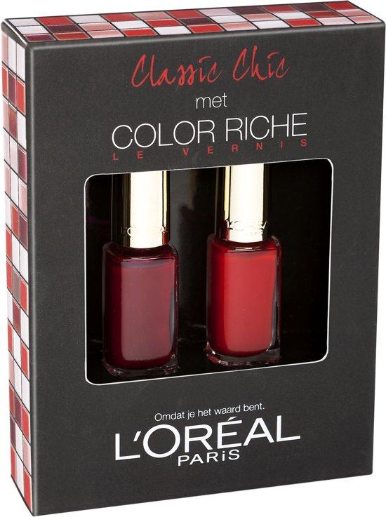 L'Oréal Paris Color Riche Le Vernis Nagellak Red - 2 delig - Geschenkset