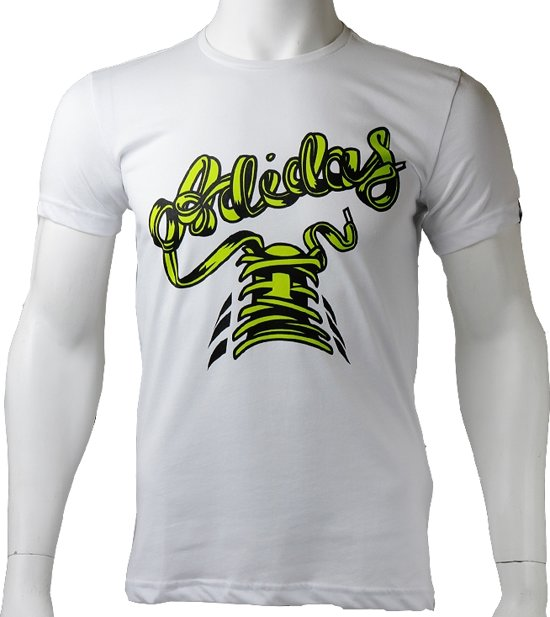 Adidas Mens Tentro Grph Tee S91422, Mannen, Wit, T-shirt maat: XS EU
