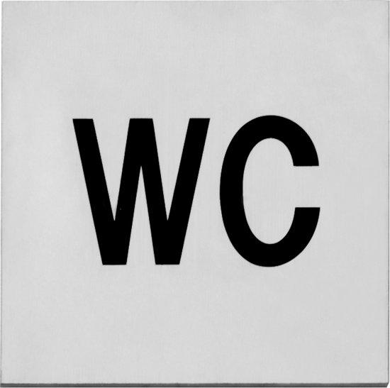 Intersteel Van Leeuwen Pictogram toilet zelfklevend vierkant