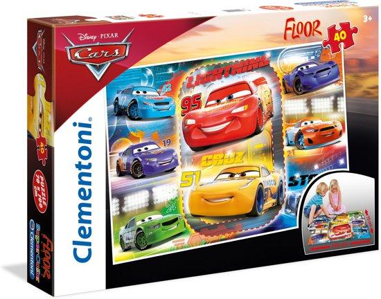 Clementoni - Vloerpuzzel - Disney Cars 3 - 40 stukjes