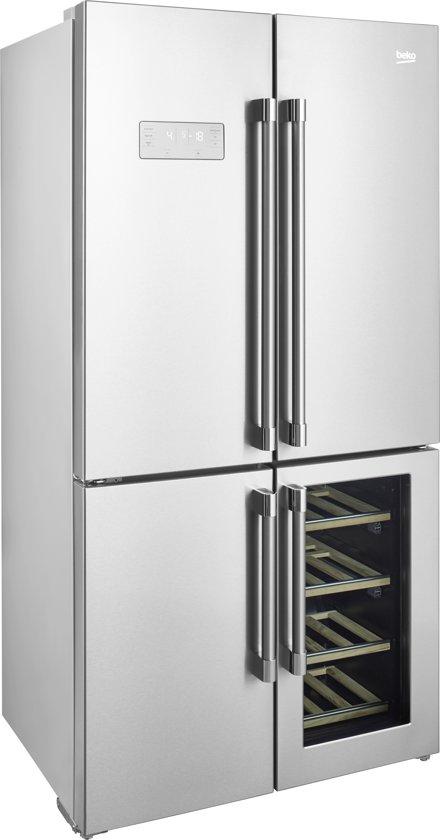Beko GN1416220CX - Amerikaanse koelkast - Zilver
