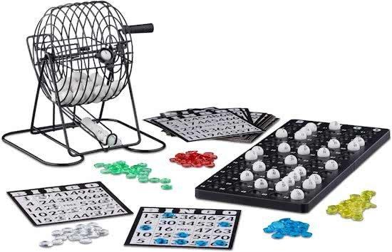 relaxdays - lotto bingo spel - bingomolen - bingospel met molen - geluksspel