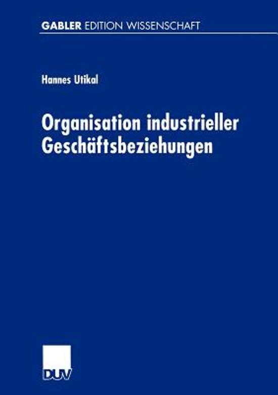 Organisation Industrieller Geschaftsbeziehungen