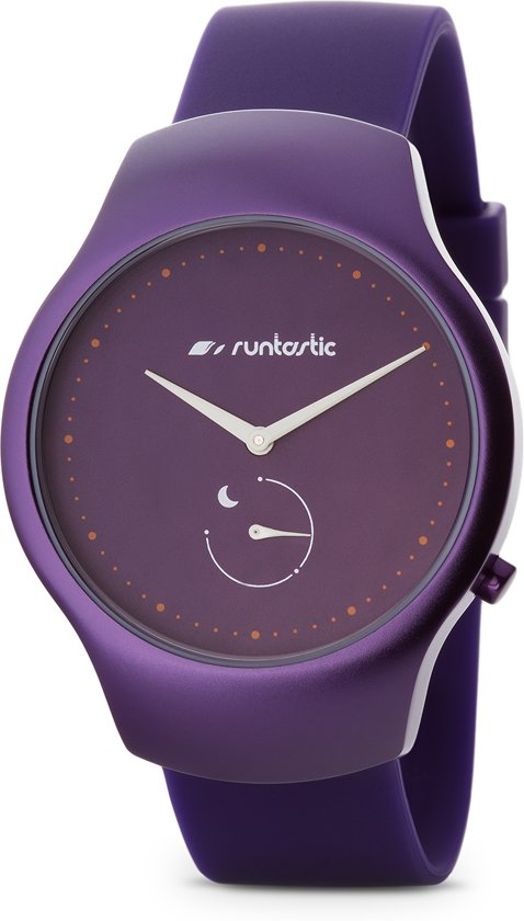 Runtastic Moment Fun activity tracker met bluetooth - 38 mm - siliconen strap - Plum in Capelle-West