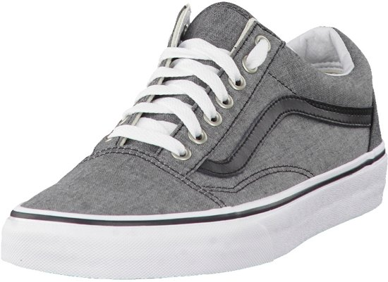 69da9ee079 Vans   Old Skool (C L) Chambray Black   Sneakers   Volwassenen   Zwart
