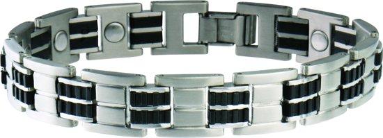 Magneet Armband Black Rubber