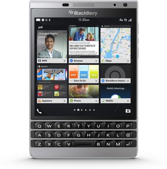 Bolcom Blackberry Passport Azerty Zilver