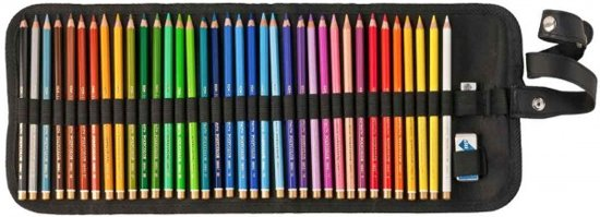 Roletui leeg voor 36 potloden, gum en puntenslijper