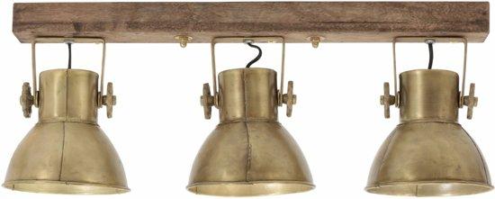 Light & Living ELAY - Hang-/wandlamp - hout weather barn brons - 3-lichts