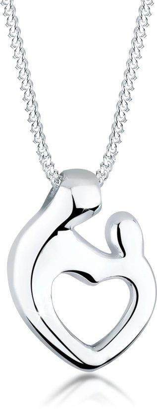 Elli Halsketting Moeder & kind hart verbondenheid 925 zilver Valentinaa