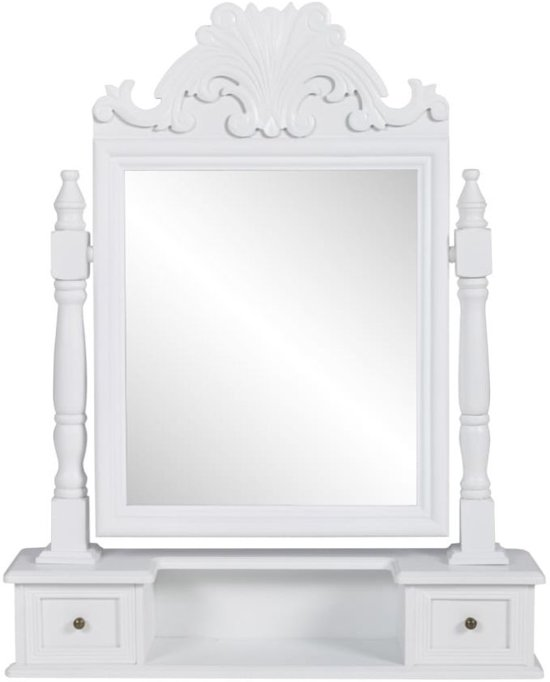 Good vidaxl barok spiegel hout wit with barok spiegel goedkoop for Goedkope barok spiegel