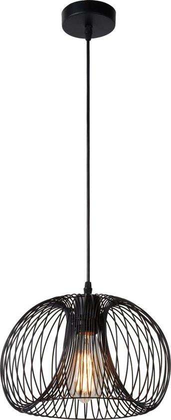 Lucide VINTI - Hanglamp - Ø 30 cm - E27 - Zwart