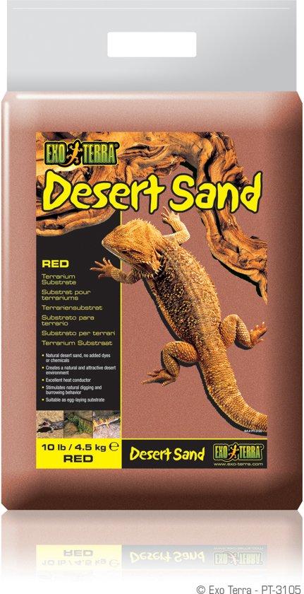 Exo Terra - Woestijnzand - Rood - 4,5KG
