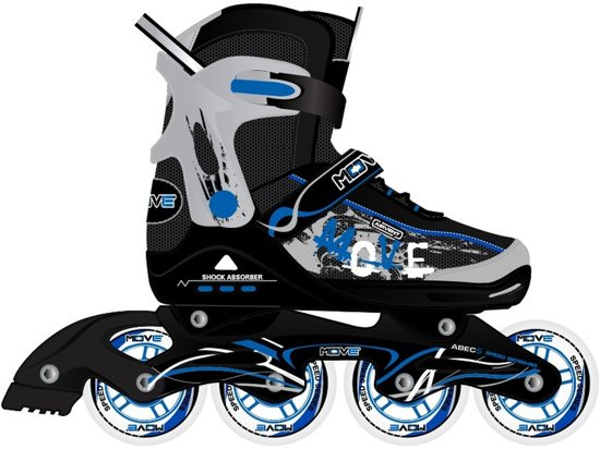 8e408a47aa1 bol.com | Move Junior Blue - Inlineskates - kinderen - zwart/blauw ...