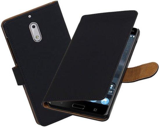 BestCases.nl Nokia 6 Effen booktype hoesje Zwart in Udenhout