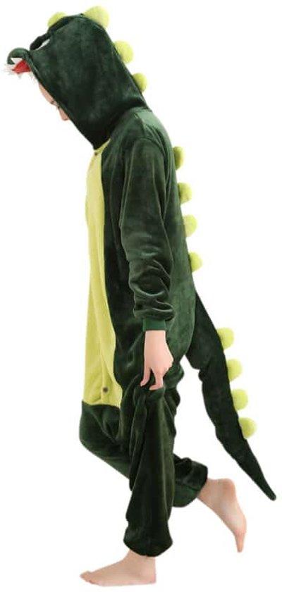 Groene Draak Dieren Onesie | XL (175-195 cm)