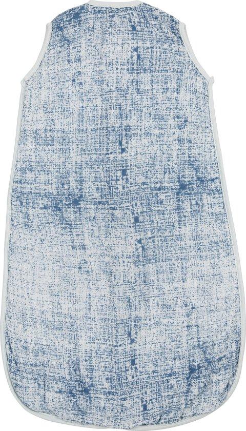 Meyco hydrofiel slaapzak Fine lines - 110cm - jeans/lichtblauw