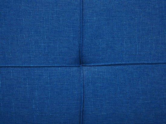 Beliani Ronne Slaapbank Blauw Stof