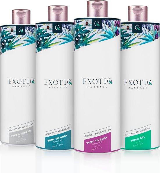 Exotiq Body To Body Verwarmende Massageolie - 500 ml