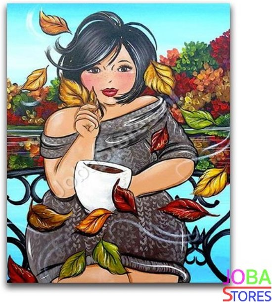 "Diamond Painting ""JobaStores®"" Dikke Dames 21 - volledig - 40x50cm"