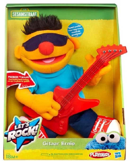 Playskool Sesamstraat Let's Rock Ernie