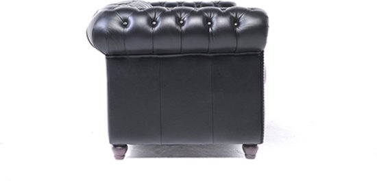 Chesterfield Original Brighton 1+2+3-zits Modern Zwart
