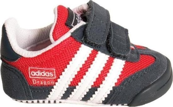 e58db57f54a bol.com   Adidas Sneakers Dragon L2w Crib Jongens Grijs/rood Mt 18