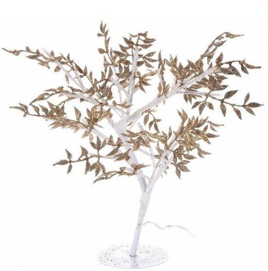 verlicht boompje zilver op led lampjes 47 cm kerstverlichting
